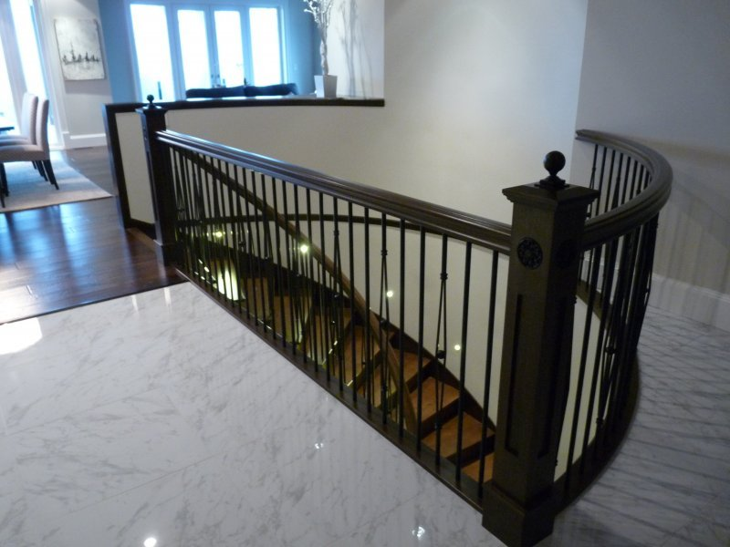 Stair Railings Vancouver   Curved Staircase