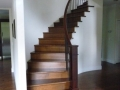 Wood Stair railings in curved staircase Vancouver