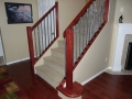 Cherry Wood Stair railings with decorative metal in Vancouver 2