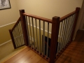 Wood Stair railings with decorative metal in Vancouver