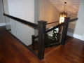 Wood & glass Stair railings Vancouver