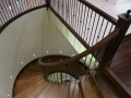 Stair railings Vancouver - curved staircase 3